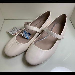 Leather Mary Jane Ballet Flats